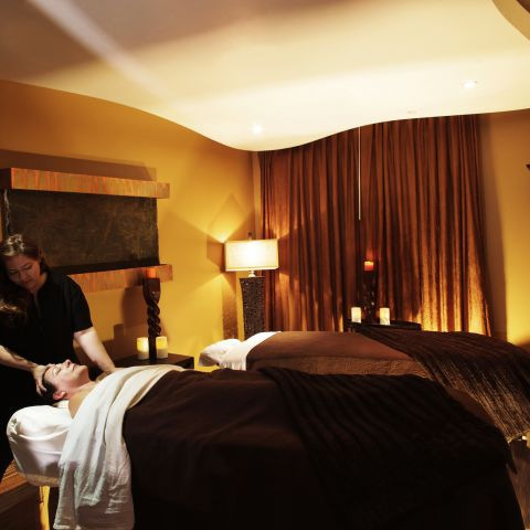 guest receiving massage
